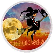 Wicked Good Round Beach Towel