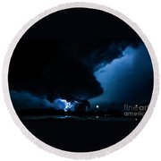 Wicked Supercell Round Beach Towel