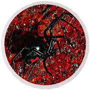 Wicked Widow - Rouge Round Beach Towel