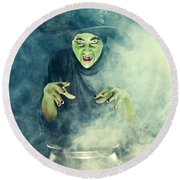 Wicked Witch  Round Beach Towel