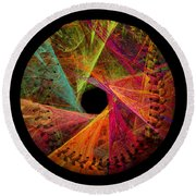 Wide Eye Color Delight  Baseball Square Round Beach Towel
