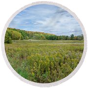 Wide Open Spaces Round Beach Towel