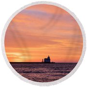 Wide Scene Format Round Beach Towel