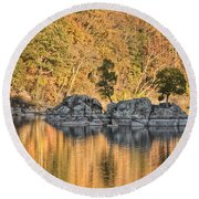 Widewater Fall Color Round Beach Towel