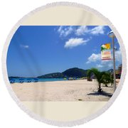 Wifi In Paradise - Hotspot Redefined Round Beach Towel