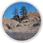 Willow Lake Number One Color Round Beach Towel by Heather Kirk