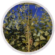 Wild Angelica Round Beach Towel