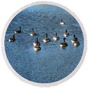 Wild Birds And Pond Round Beach Towel