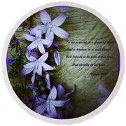 Wild Blue Flowers And Innocence 2 Round Beach Towel