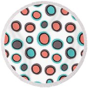 Wild Bounce Round Beach Towel by Susan Claire