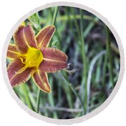 Wild Flower Round Beach Towel