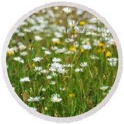 Wild Flower Meadow Round Beach Towel