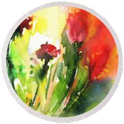 Wild Flowers 09 Round Beach Towel