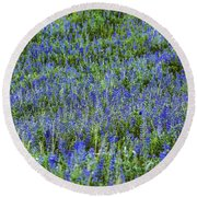Wild Flowers Blanket Round Beach Towel