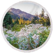 Wild Flowers Round Beach Towel