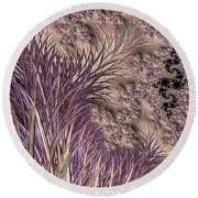 Wild Grasses Blowing In The Breeze  Round Beach Towel
