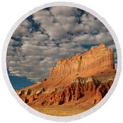 Wild Horse Butte Goblin Valley Utah Round Beach Towel