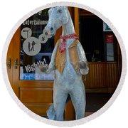 Wild Horse Saloon Round Beach Towel