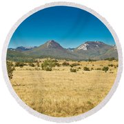 Wild Landscape Of Lika Region Croatia Round Beach Towel