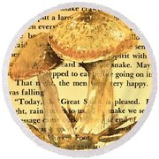 Wild Mushrooms Warm And Subtle Round Beach Towel
