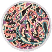 Wild Round Beach Towel