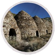 Wild Rose Charcoal Kilns Death Valley Img 4290 Round Beach Towel