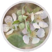 Wild Roses - Digital Paint Round Beach Towel