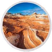 Wild Sandstone Landscape Round Beach Towel