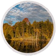 Wilderness Pond 2 Round Beach Towel