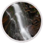 Wilderness Waterfall Dawn Round Beach Towel