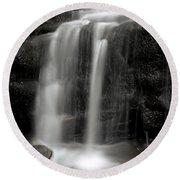 Wilderness Waterfall Round Beach Towel