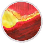 Wildfire Original Painting Round Beach Towel