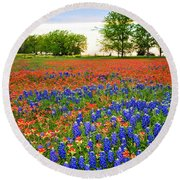 Wildflower Tapestry Round Beach Towel