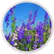 Wildflowers #11 Round Beach Towel