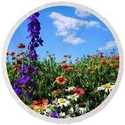 Wildflowers #7 Round Beach Towel