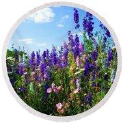 Wildflowers #9 Round Beach Towel