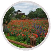 Wildseed Farms Round Beach Towel