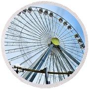 Wildwood Ferris Wheel Round Beach Towel