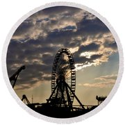 Wildwood Rides Round Beach Towel