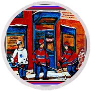 Wilenskys Hockey Art Posters Prints Cards Originals Commission Montreal Paintings Contact C Spandau Round Beach Towel