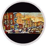Wilenskys Hockey Paintings Montreal Commissions Originals Prints Contact Artist Carole Spandau  Round Beach Towel