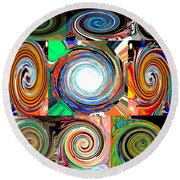 Will It Go 'round In Circles Round Beach Towel