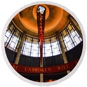Will The Circle Be Unbroken Round Beach Towel