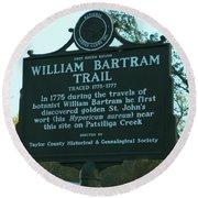 William Bartram Round Beach Towel