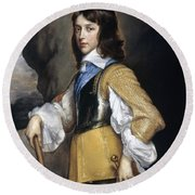 William II (1626-1650) Round Beach Towel