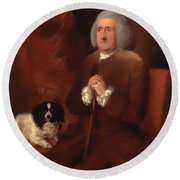 William Lowndes - A Auditor Of His Majesty's Court Of Exchequer  Round Beach Towel