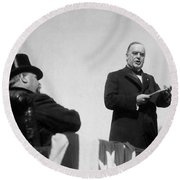 William Mckinley Making His Inaugural Address Round Beach Towel by War Is Hell Store