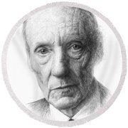 William S. Burroughs Round Beach Towel