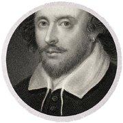 William Shakespeare Round Beach Towel