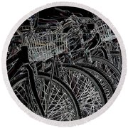 Williamsburg Bikes Round Beach Towel